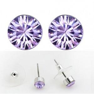 Cercei SHINE violet deschis cu cristale swarovski