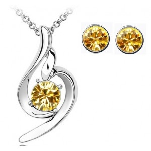 Set SOFT yellow cu cristale swarovski-big