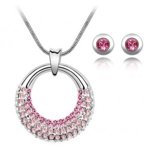 Set MOONLIGHT LITTLE SHINE rose cu cristale swarovski