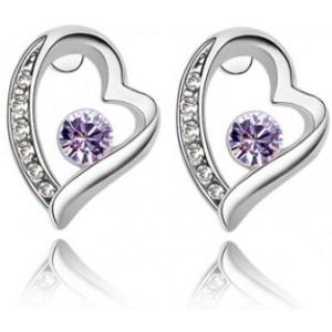 Cercei FOREVER violet cu cristale Swarovski