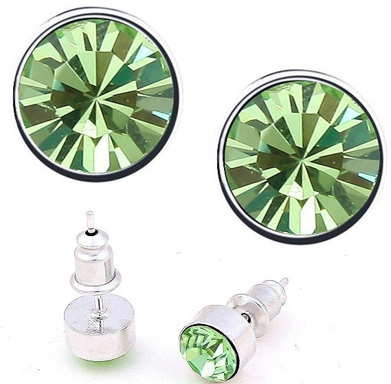 Cercei BRIGHT green-peridot cu cristale swarovski
