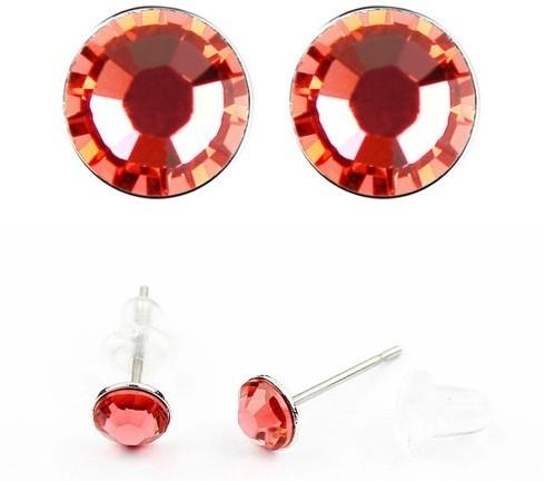 Cercei LITTLE SHINE red cu cristale swarovski