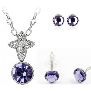 Set TRIUMFAL SHINE violet cu cristale swarovski