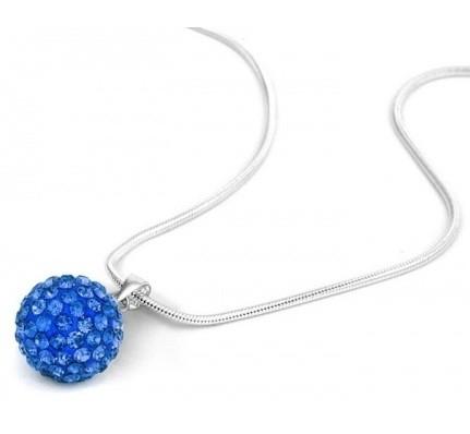 Pandant SHAMBALA BLUE CAPRI  cu cristale