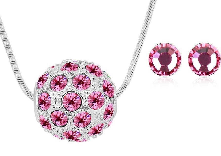 Colier CRYSTAL FANTASY rose cu cristale swarovski