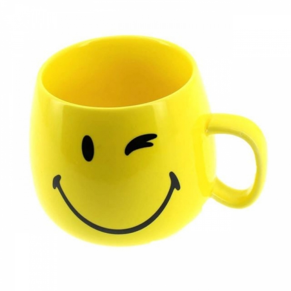 Cana Smiley Forever (breakfast ceramic cup) din portelan