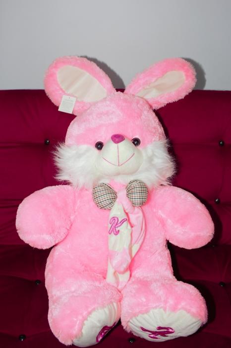 Iepuras din plus roz 80cm, cadoul ideal de Valentine's Day 0
