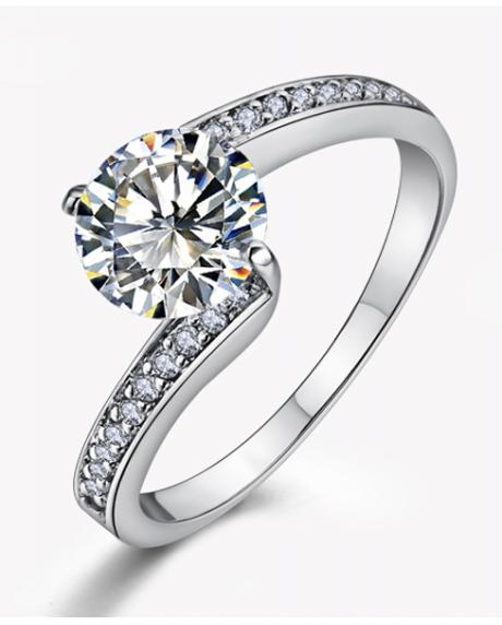 Inel Simple is the best diametru 18cm cu cristale Swarovski placat cu aur 18k