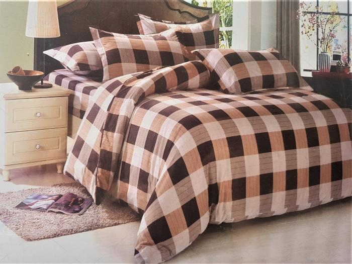 LENJERIE DE PAT 6 PIESE 2 persoane pat matrimonial din BUMBAC 3D, model 1025- Sendia