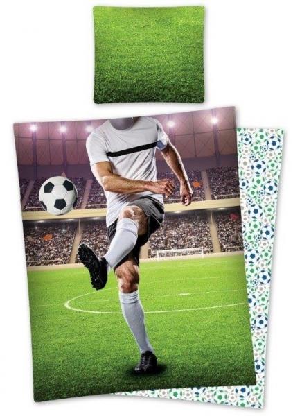 Lenjerie de pat licenta Football marime 160x200cm 1persoana