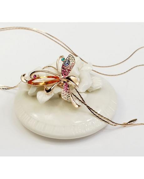 Set bijuterii EXCENTRIC BUTTERFLY cu cristale Swarovski multicolor