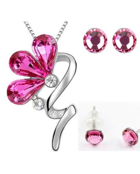 Set BLOOM SHINE rose cu cristale swarovski-big