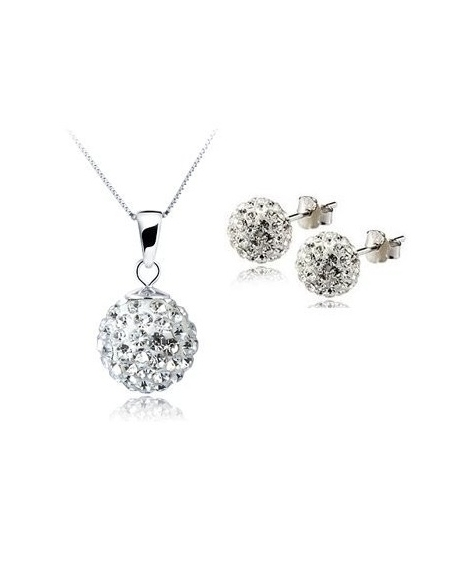 Set bijuteriii SHAMBALA alb cu cristale 0