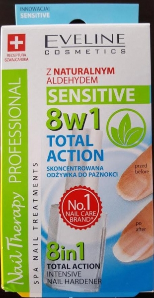 Tratament unghii 8 in 1 Eveline SENSITIVE