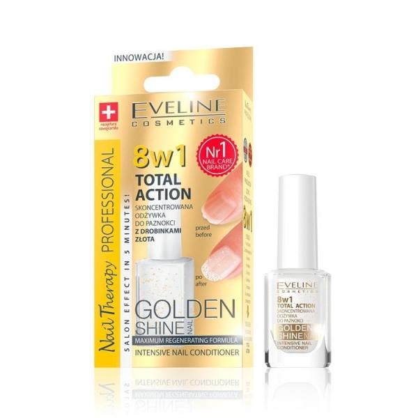 Tratament unghii 8in1 Eveline Professional GOLD Shine 12 ml