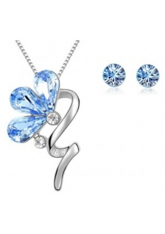 Set BLOOM SHINE lightblue cu cristale swarovski