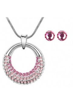 Set MOONLIGHT SHINE rose cu cristale swarovski