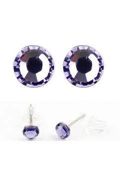 Cercei LITTLE SHINE violet inchis cu cristale swarovski
