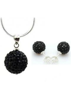 Set bijuteriii SHAMBALA negru  cu cristale swarovski