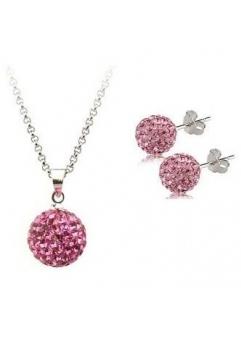 Set bijuteriii SHAMBALA rose cu cristale swarovski
