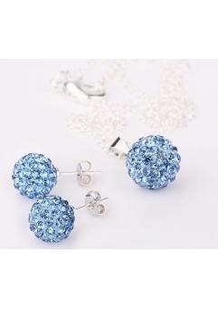 Set bijuteriii SHAMBALA lightblue cu cristale swarovski