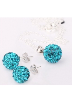 Set bijuteriii SHAMBALA bleo topaz-turquoise cu cristale swarovski