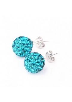 Cercei SHAMBALA turquoise cu cristale swarovski