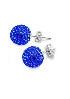 Cercei SHAMBALA blue cu cristale swarovski