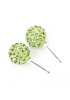 Cercei SHAMBALA verde cu cristale swarovski