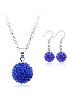 Set bijuteriii SHAMBALA lung blue-capri cu cristale swarovski