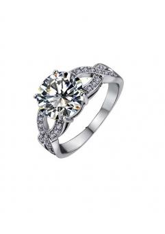 Inel Beautifull White diametru 18 cm cu cristale Swarovski placat cu aur 18k