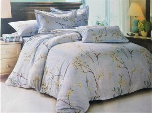 LENJERIE DE PAT 6 PIESE 2 persoane pat matrimonial din BUMBAC 3D, model 1027- Sendia