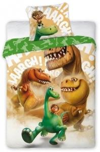 Lenjerie de pat licenta The Good Dinosaur marime 160x200cm 1persoana