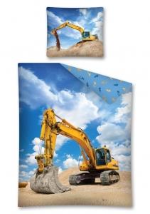 Lenjerie de pat licenta Excavator marime 160x200cm 1persoana