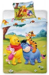 Lenjerie de pat licenta Winnie the Pooh  100x135 cm pentru bebe