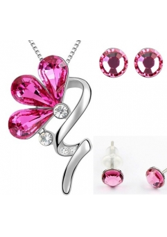 Set BLOOM SHINE rose cu cristale swarovski